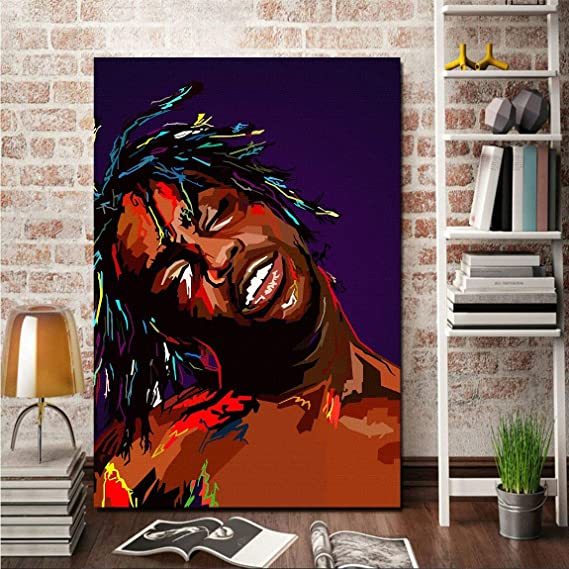2f4105f383c2 Amazon.com: Susu Art - Chief Keef WPAP Canvas Giclee Print Painting Picture  Wall WPAP Pop Art Home Decor Gifts (with Framed, Size 2: 16x24inch.