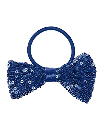 big sale famous brand fashion Amazon.com : Shimmering Sequin Hair Bow Ponytail Holder ...