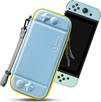 tomtoc Funda Ultra Delgada para Nintendo Switch, Patente Original Estuche Rígido con más Espacio de Almacenamiento para 10 Juegos, Case de Transporte con Proteción de Nivel Militar, Azul Menta: Amazon.es: Electrónica