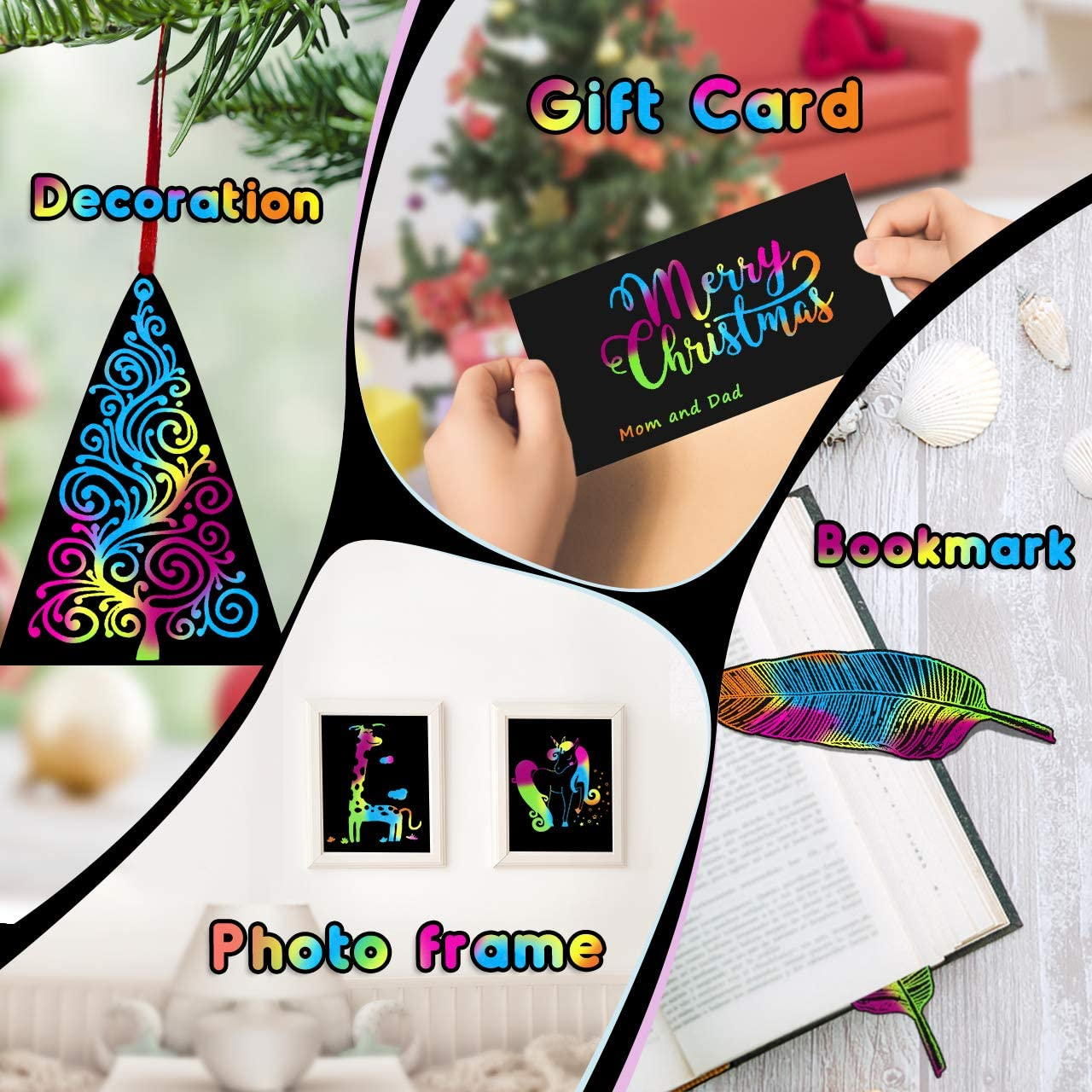 Scratch Art for Kids Gifts Age 3-12 Scratch Paper Art Set for Kids Arts and Crafts Set for Kids Toddler Baby Rainbow Scratch Gifts for 5-10 Year Old Girls LETS GO Toys for 3-12 Year Old Boys Girls
