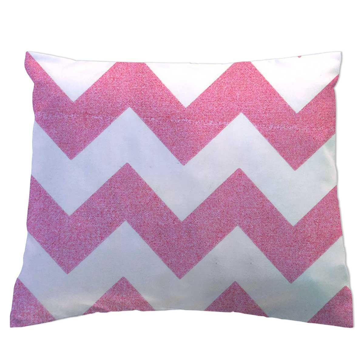 SheetWorld Crib Toddler Pillow Case, 100% Cotton Woven, Sparkly Pink Chevron, 13 x 17, Made in USA