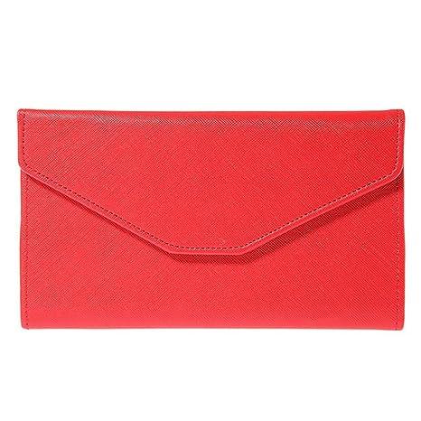bestmemories embrague largo monedero cartera de piel con cartera multifunción Lady cambio cartera de llevar pasaportes