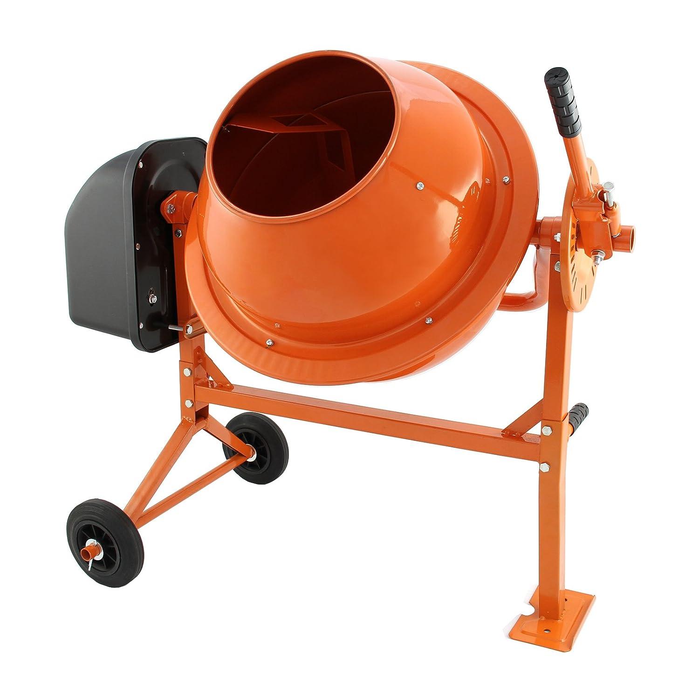 T-Mech - Hormigonera Eléctrica 70 Litros 30 rpm para Mezclar Hormigón, Argamasa y Cemento: Amazon.es: Bricolaje y herramientas