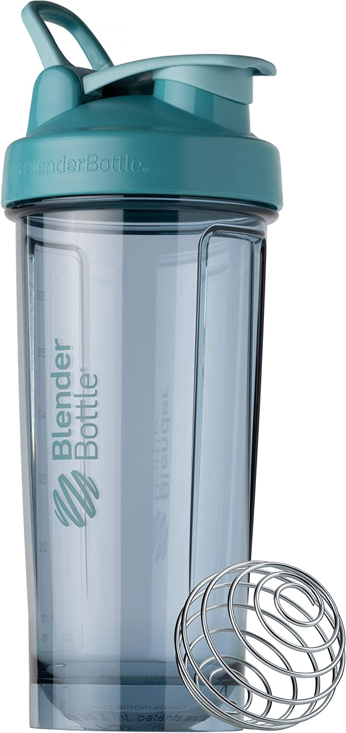 BlenderBottle Shaker Bottle Pro Series Perfect for Protein Shakes and Pre Workout, 28-Ounce, Cerulean Blue