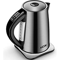 AICOK Electric Kettle Temperature Control 3000W Fast Boil Kettle with 100% BPA Free Stainless Steel, Auto Shut Off and Boil Dry Protection
