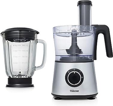 Tristar MX-4823 Robot de cocina con batidora y picadora, 1.5 litros de capacidad, 600 W de potencia, Plata: Amazon.es: Hogar