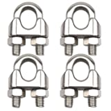 DYWISHKEY Pack of 4, 3/8 Inch M10 Stainless Steel