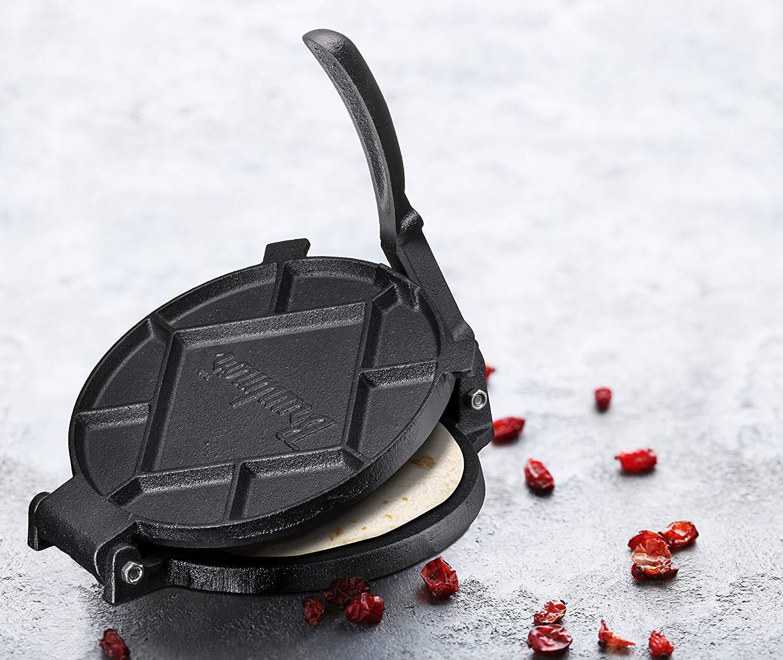 Pre-Seasoned 7'' Cast Iron Tortilla Press, quesadilla maker by Bruntmor (Image #3)