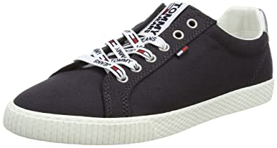 Tommy Jeans Hilfiger Denim Star Sneaker, Sneakers Basses Femme, Bleu (Midnight 403), 38 EU