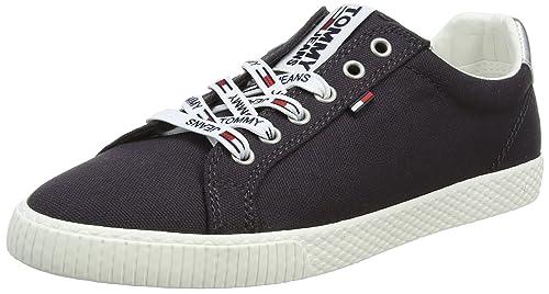 Hilfiger Denim Tommy Jeans Sneaker, Zapatillas para Mujer, Azul (Midnight 403), 39 EU