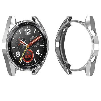 FOLOME Funda para Reloj Huawei Watch GT/Active de 46 mm, Revestimiento de TPU Suave [a Prueba de arañazos]