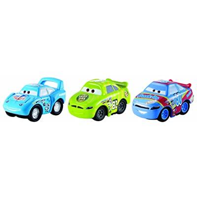 Disney/Pixar Cars, Micro Drifters Vehicles, Shiny Wax No. 82, Gask-Its No. 80, and The King, 3-Pack.: Toys & Games