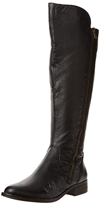 a67d7a90ad7 Steve Madden Women's Shawny Boot, Black Leather, 5.5 M US: Amazon.co ...
