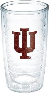 Tervis 1006747 Indiana University Emblem Individual Tumbler, 16 oz, Clear