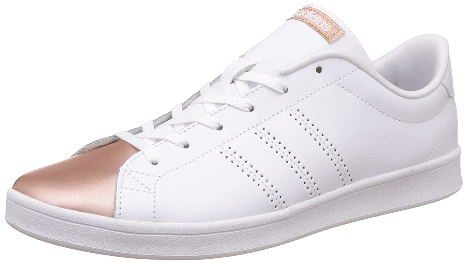 super popular 5a653 272f9 adidas Damen Advantage Clean QT Sneakers 36 EUElfenbein  (FtwblaFtwblaCobmet) - associate-degree.de