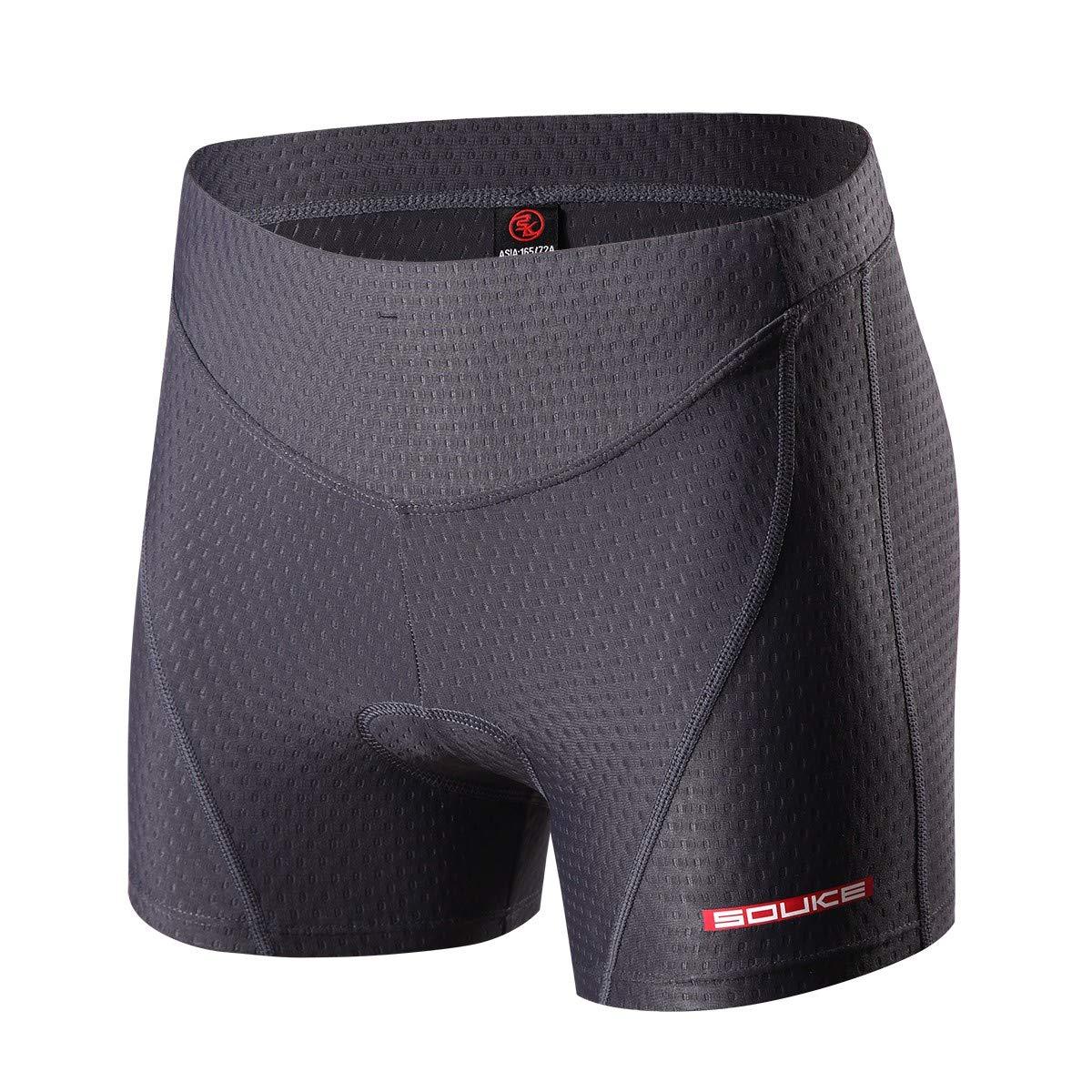 Eco-daily Cycling Shorts Women's 3D Padded Bicycle Bike Biking Underwear Shorts (Darkgrey, XXL)