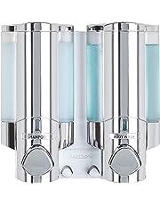 AVIVA Single Bottle Soap and Shower Dispenser, Satin Silver