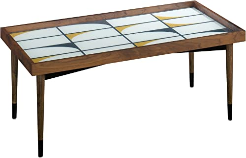 Sauder Harvey Park Coffee Table, Grand Walnut finish