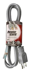 Coleman Cable 09736 16/3 Appliance Replacement Cord, 13-Amp 125-Volt SPT-3, 6-Foot