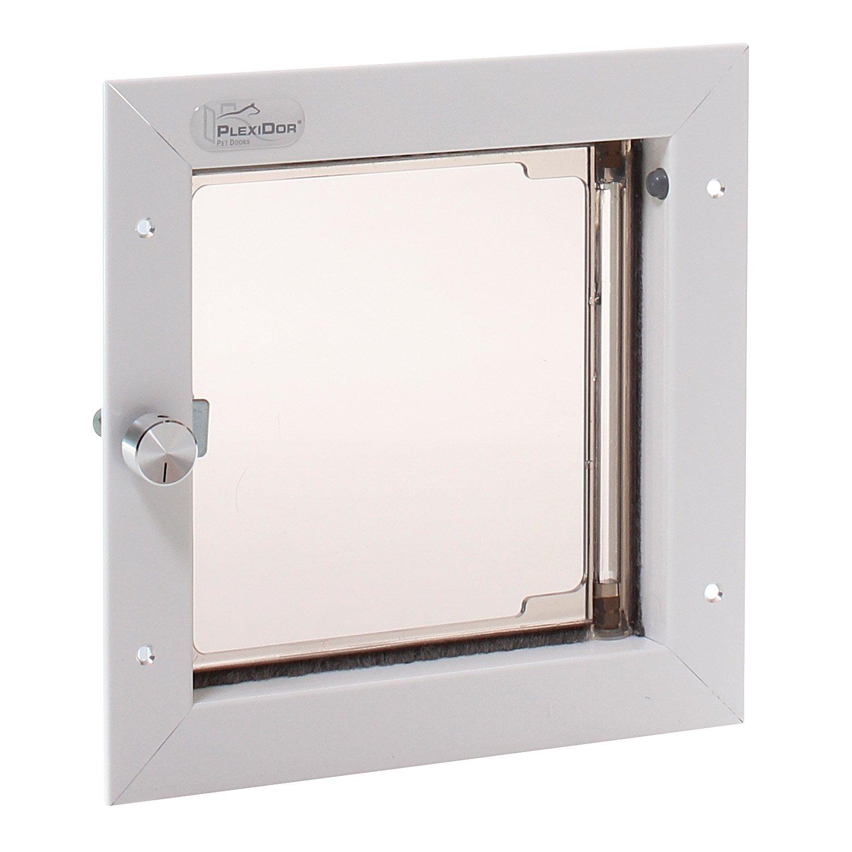 PlexiDor Performance Pet Doors Small White Wall Mount