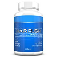 Ultrax Labs Hair Rush | Maxx Hair Growth & Anti Hair Loss Nutrient Solubilized Keratin Vitamin Supplement, 60 tablets.