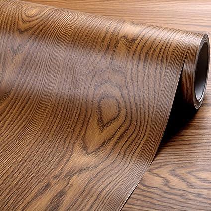 Faux grano de madera papel de contacto adhesivo estante maletero ...