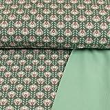 Softshell Stoff Blumen grau Öko-Tex Modestoffe Outdoorbekleidung Kinderstoffe Retro - Preis Gilt für 0,5 Meter
