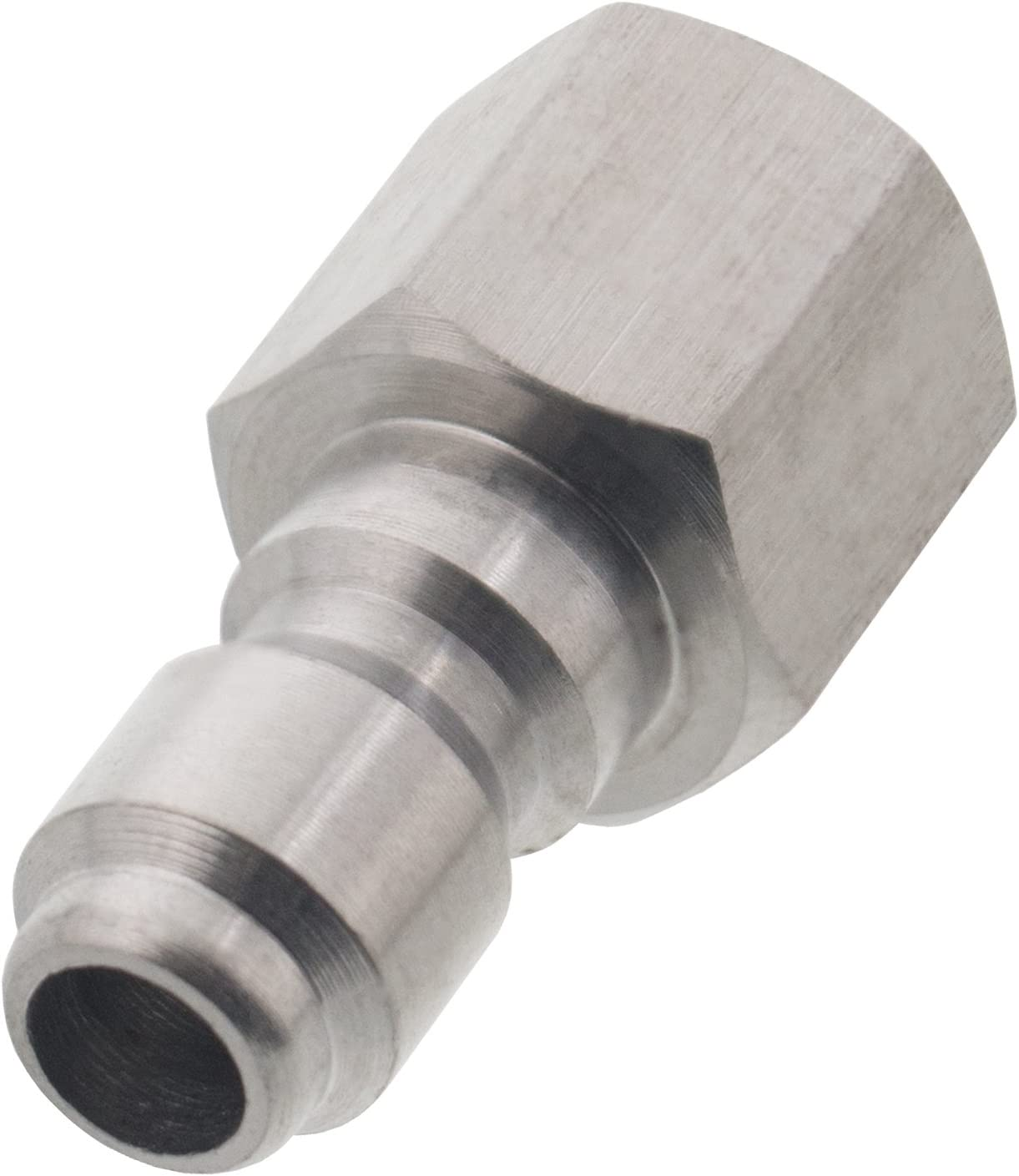 """5-1//4/"""" FPT x 1//4/"""" Male Quick Connect Stainless Steel Pressure Washer Fittings"""