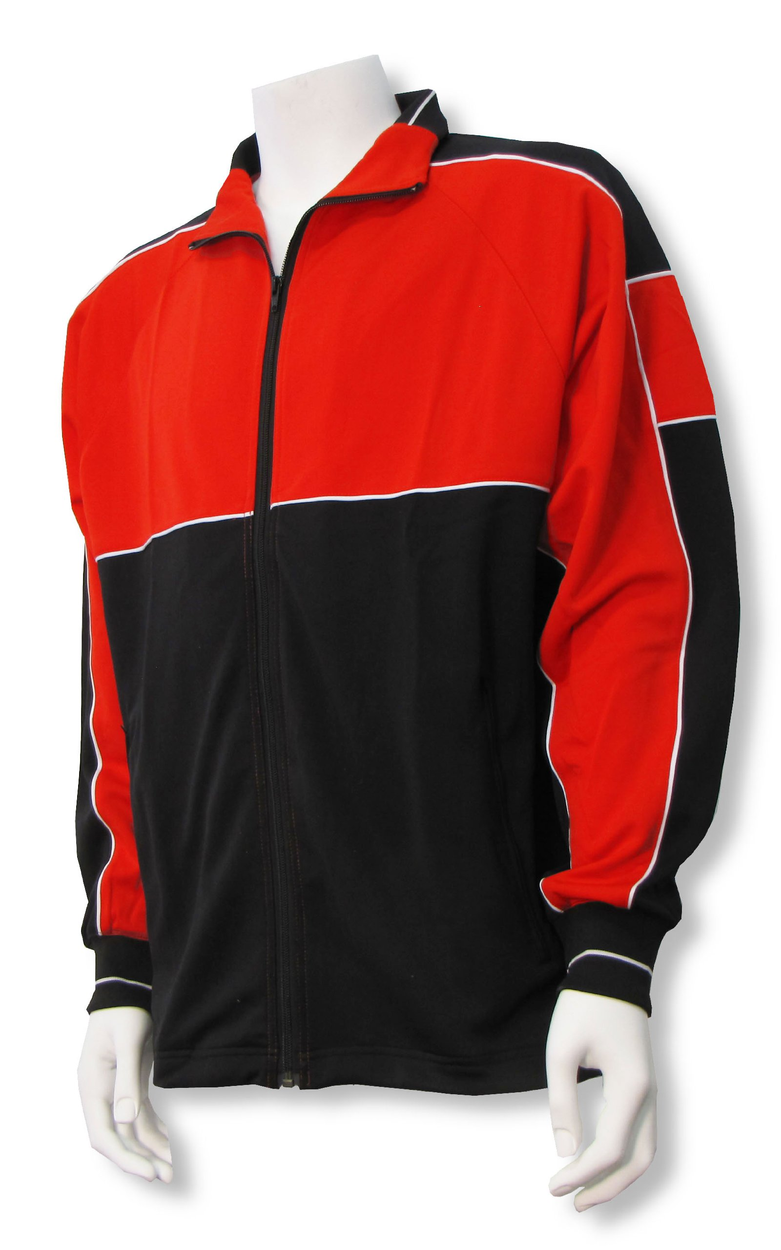 Code Four Athletics Sparta soccer poly-knit warmup jacket - size Youth S - Red/Black by Code Four Athletics