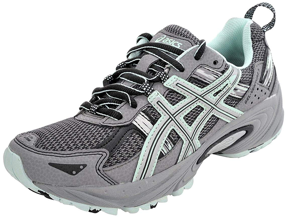 ASICS Women's Gel-Venture 5 Trail Running Shoe, Frost Gray/Silver/Soothing Sea, 6 M US by ASICS (Image #1)