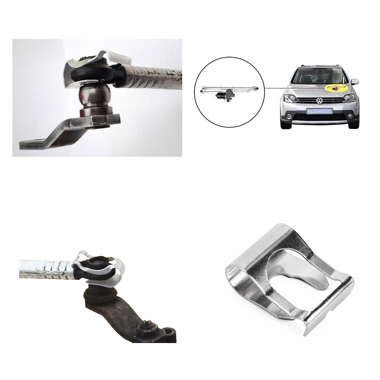 4PCS MOTOR LIMPIAPARABRISAS VARILLAJE BARRAS brazos de enlace mecanismo de reparación CLIP KIT FIAT PUNTO Para MK1 MK2 176 18 MGF MG ZR ZS ZT TF: Amazon.es: ...