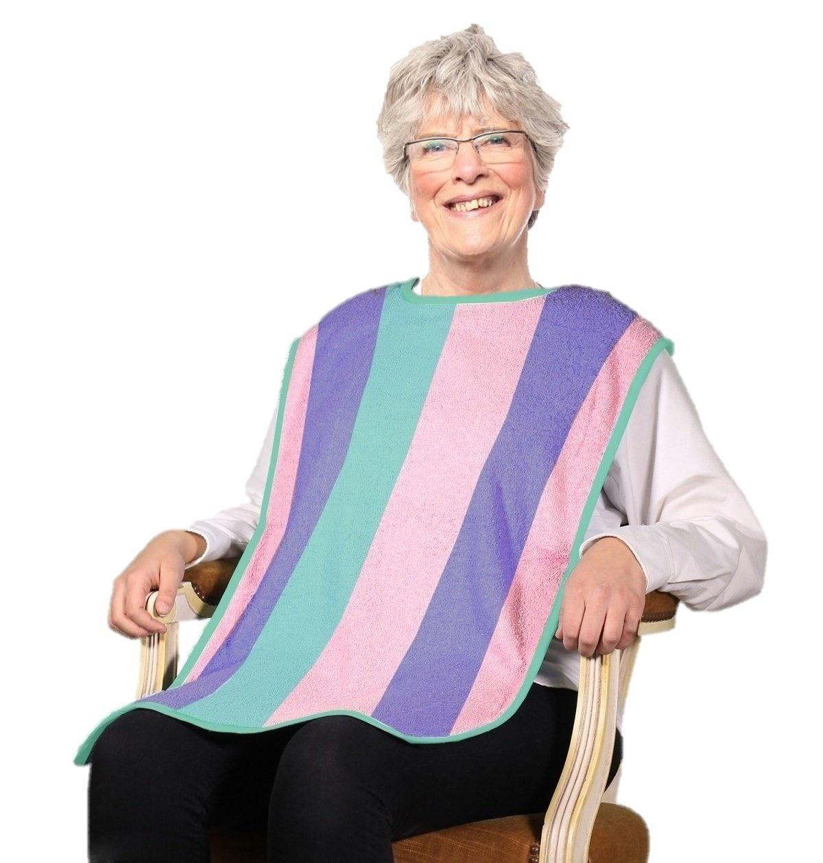 Deluxe Adult Terry Cloth Long Bibs - 3PK Rainbow by BELLA KLINE DESIGN