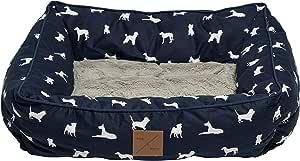 MOG & BONE Bolster Dog Bed Blue Designer Dog Print Large