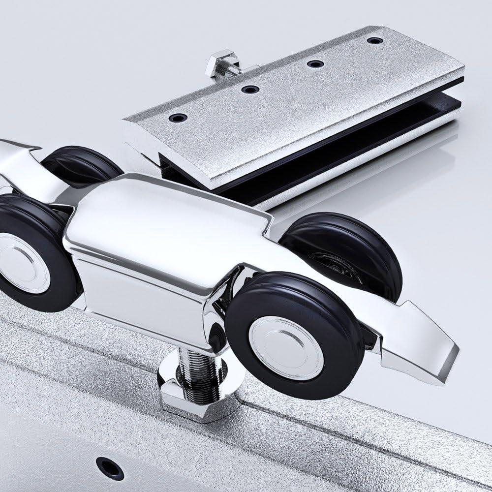 Sogood porte coulissante int/érieure en verre 102,5cm x 205cm porte glissante pour chambre cuisine buro poign/ée de porte ronde Amalfi TS11-1025SC