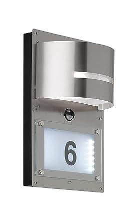 Wofi hogar Números lámpara, metal, E27, 14.7 W, acero ...