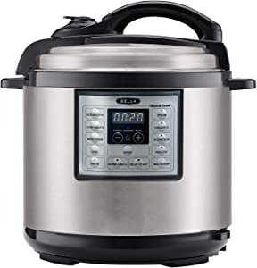 BELLA (14719) 6 Quart Pressure Cooker with One-Touch Digital Presets & Nonstick Cooking Pot