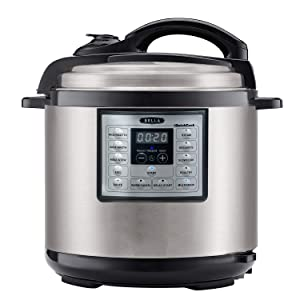 BELLA (14719) 6 Quart Pressure Cooker Multifunction Electric Cooker with One-Touch Digital Presets & Nonstick Cooking Pot