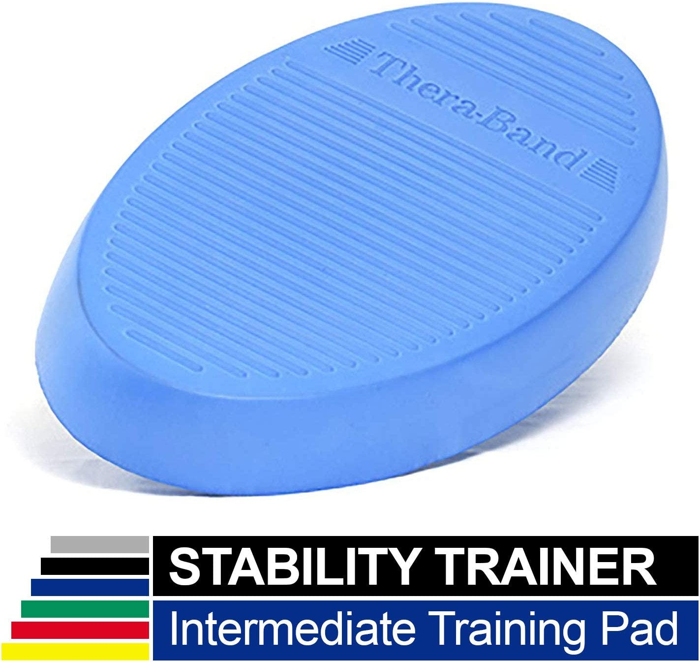 TheraBand Stability Trainer Pad, Beginner Level Green Foam Pad, Balance Trainer Wobble Cushion for Balance Core Strengthening, Rehabilitation, Physical Therapy, Round Sport Balance Trainer