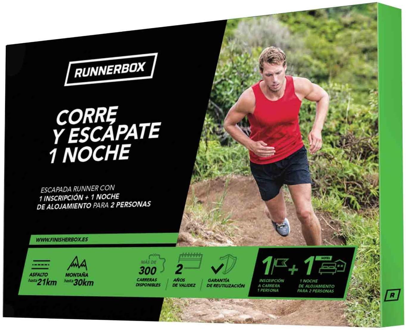 RunnerBox - Caja Regalo para Runners - Corre Y ESCÁPATE UNA Noche - escapada Running - Hotel más Carrera - 2500 Carreras: Amazon.es: Deportes y aire libre