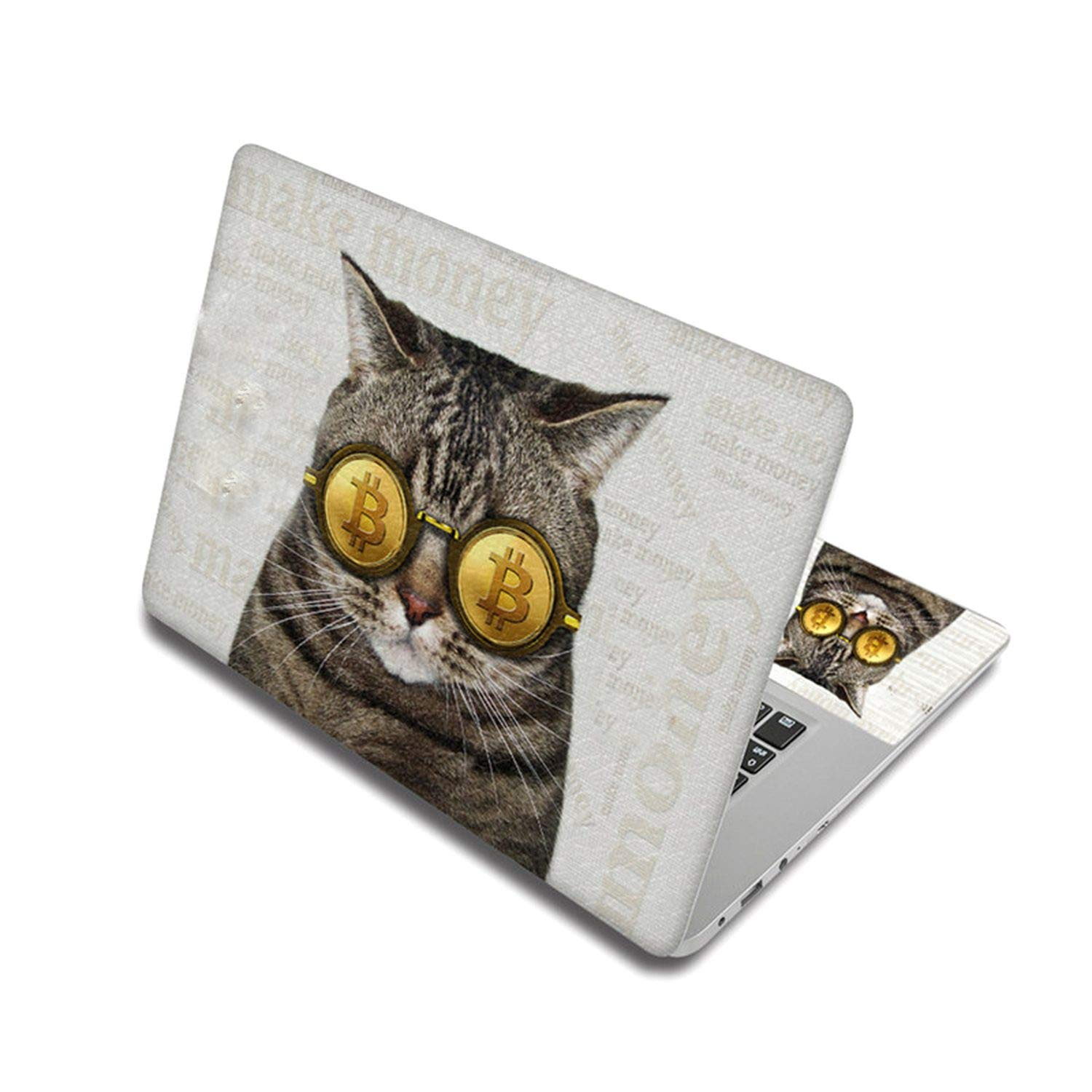 Cute Cat Pattern Sticker For Laptop Skin Removable Notebook Stickers Pc Decal For Xiaomi Pro/Mac Air/Toshiba/Hp,17 Inch,Laptop Skin 5