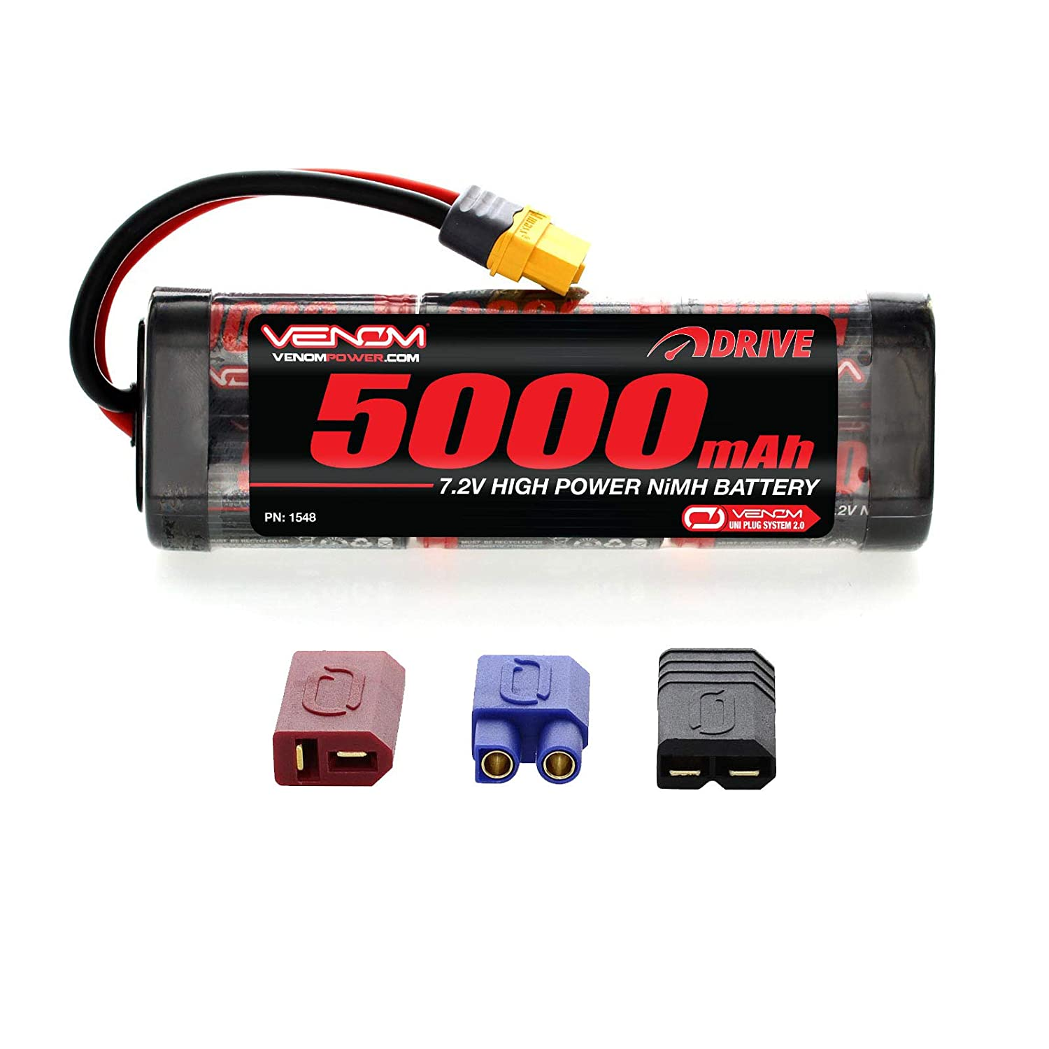 Venom 7.2V 5000mAh 6-Cell NiMH Battery with Universal Plug 2.0 (Traxxas / Deans / EC3)