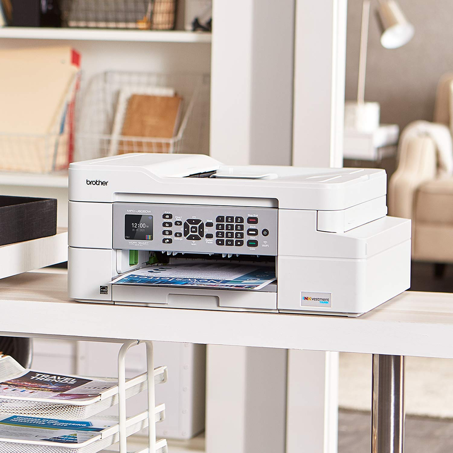 Brother MFC-J805DW INKvestmentTank Color Inkjet All-in-One Printer with Mobile Device and Duplex Printing with Up To 1-Year of Ink In-box by Brother (Image #2)
