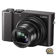 PANASONIC LUMIX ZS100 4K Digital Camera, 20.1 Megapixel 1-Inch Sensor 30p Video Camera, 10X LEICA DC VARIO-ELMARIT Lens, F2.8-5.9 Aperture, HYBRID O.I.S. Stabilization, 3-Inch LCD, DMC-ZS100K (Black)