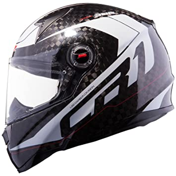 Casco integral LS2 CR1 DIABLO Carbono-blanco (m)
