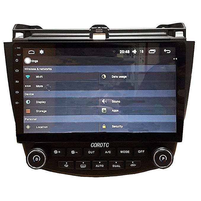Android 5.1.1 7ª 2003 - 2007 Honda Accord único zona 10.1 Inch Indash Car Stereo Radio unidad principal GPS Sistema de navegación con Bluetooth/SD/USB/FM/AM ...