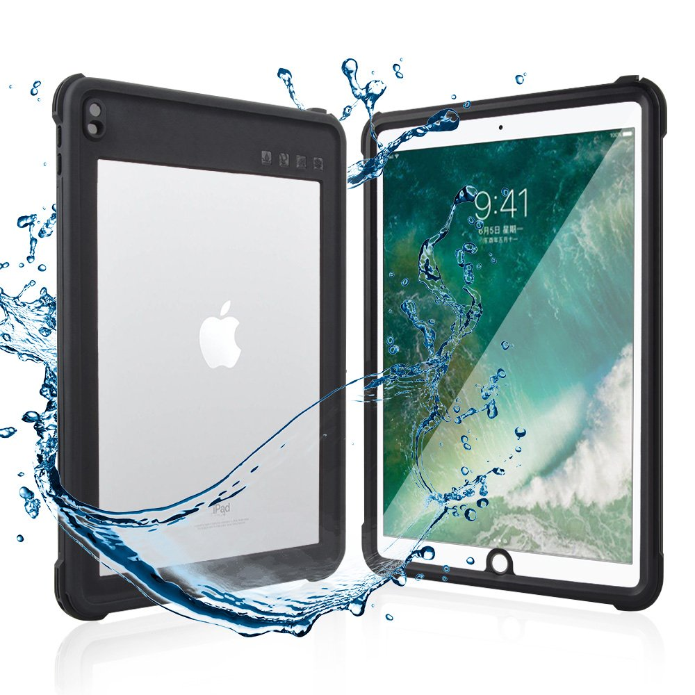 Shellbox iPad Pro 10.5 Waterproof Case, Shockproof Case with Built in Screen Protector, Rugged Full Body Protect Sleek Transparent Cover for iPad Pro 10.5''