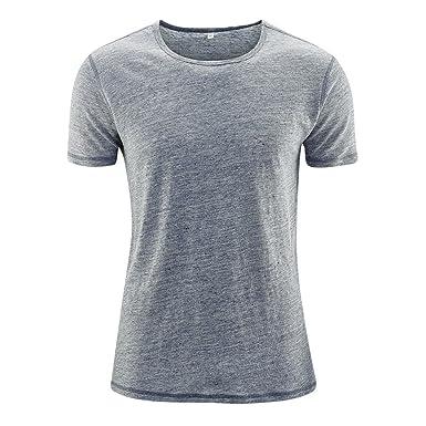 83c408b2af1108 Living Crafts Herren T-Shirt aus 100% Bio-Leinen (XXL