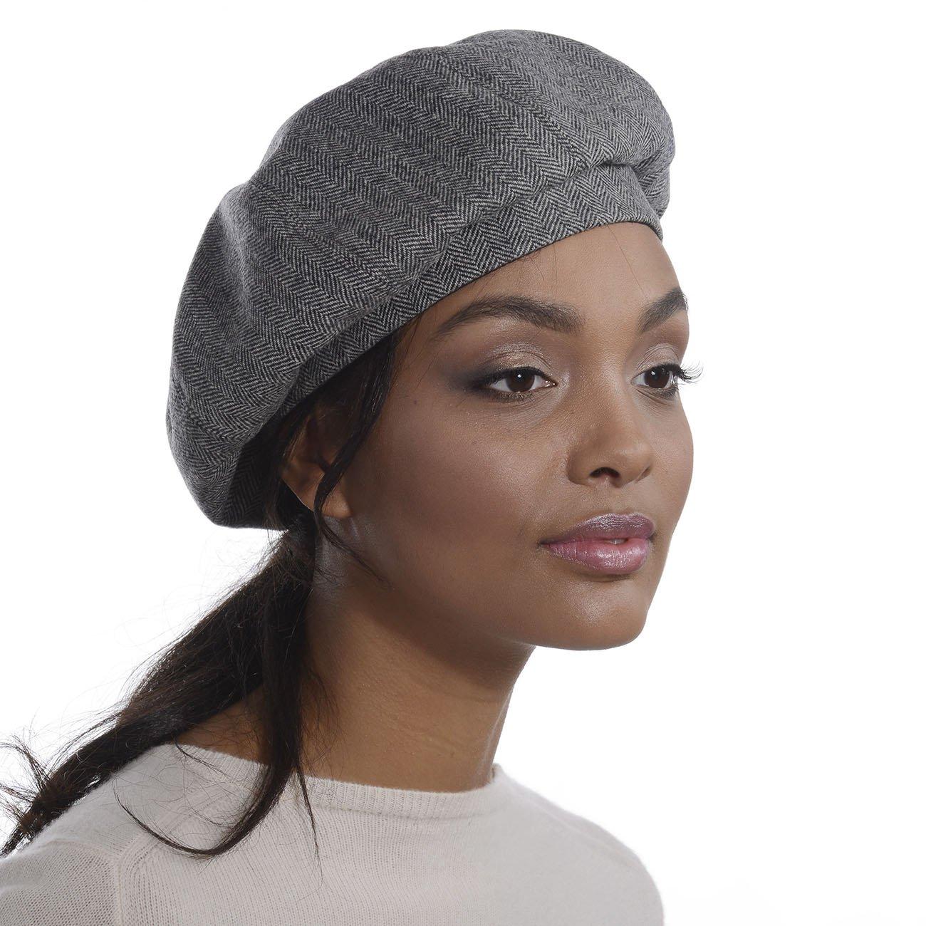 Eric Javits Designer Women's Luxury Headwear - Tweed Beret - Blue Mix