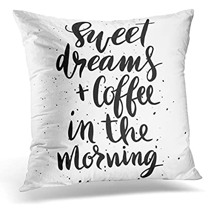 Amazon Throw Pillow Cover Handwritten Quote Sweet Dreams And Beauteous Sweet Dreams Decorative Pillows