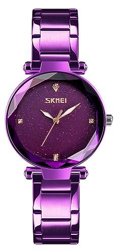 7074793304dc Señoras Relojes Mujeres de Acero Inoxidable de aleación de Cuarzo Pulsera de  Reloj de Moda Vestido